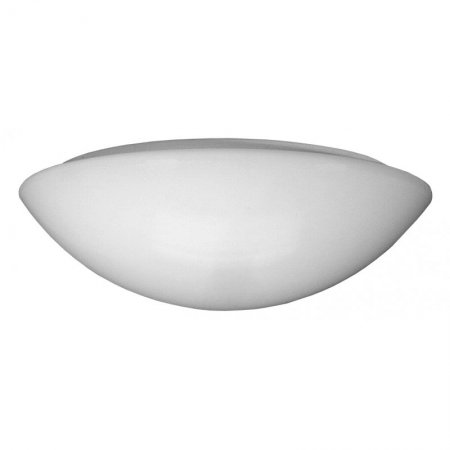 LED Anbauleuchte Luna+ IP40 mit Opaler PC Wanne 370mm 1x15W LED 3000K Made in Germany