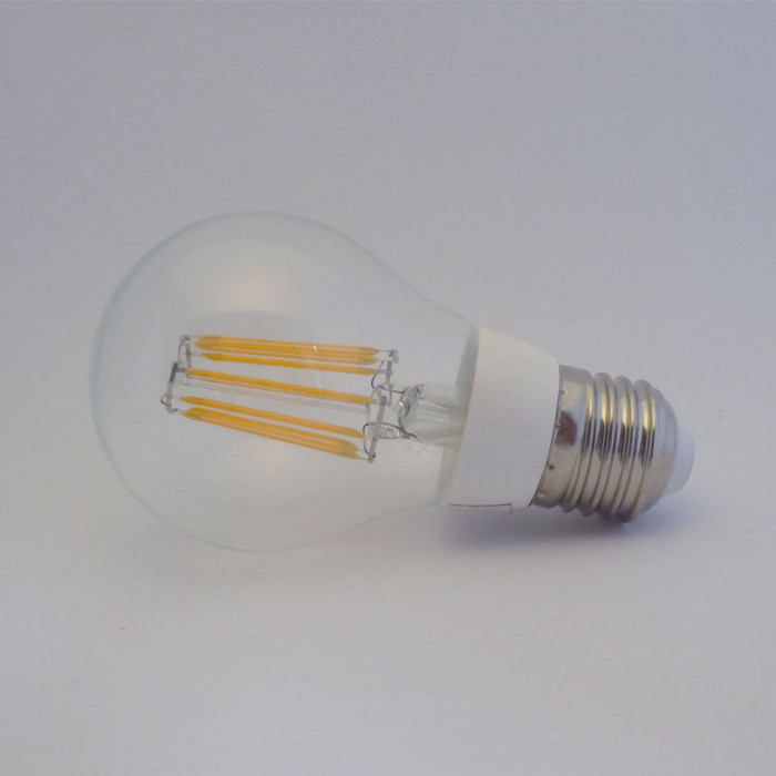 RealLED 55mm Halogen-LED Glühwendelbirne E27 warmweiß 4 Watt klarglas 2700 K