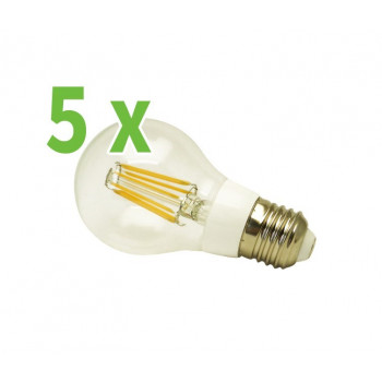 5x RealLED 55mm Halogen-LED Glühwendelbirne E27 warmweiß...