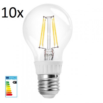 10x RealLED 60mm LED-Glühwendelbirne E27 warmweiß 2700K 7...