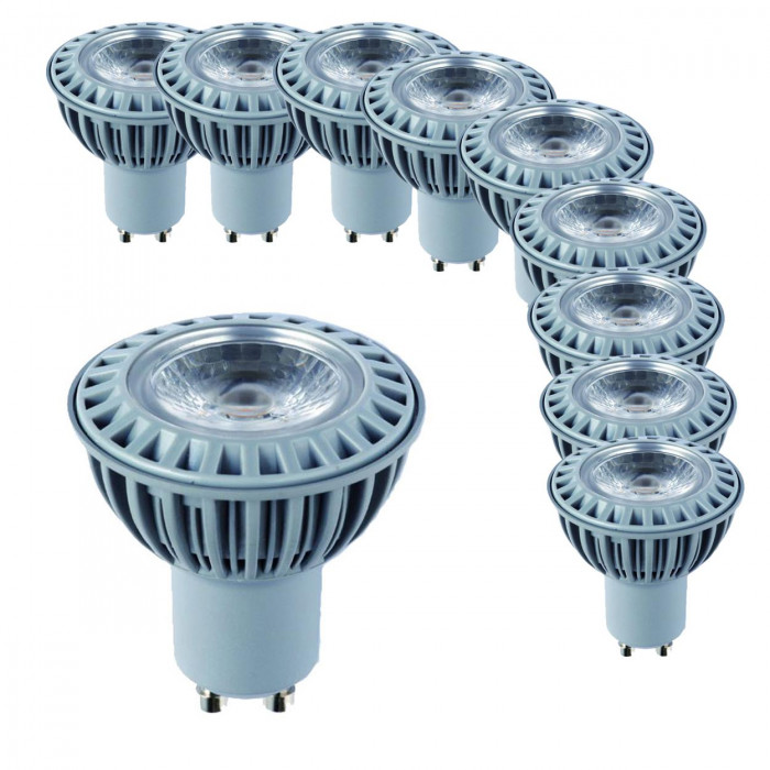 10 x RealLED Halogen LED-Spot GU10 5 Watt, 38° warmweiß