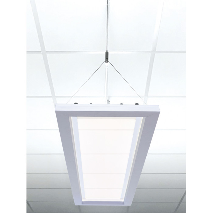 DOTLUX LED-Büroleuchte OFFICE 1200x300mm 54W COLORselect dimmbar 0-10V UGR<19 (inkl. Abhängung)